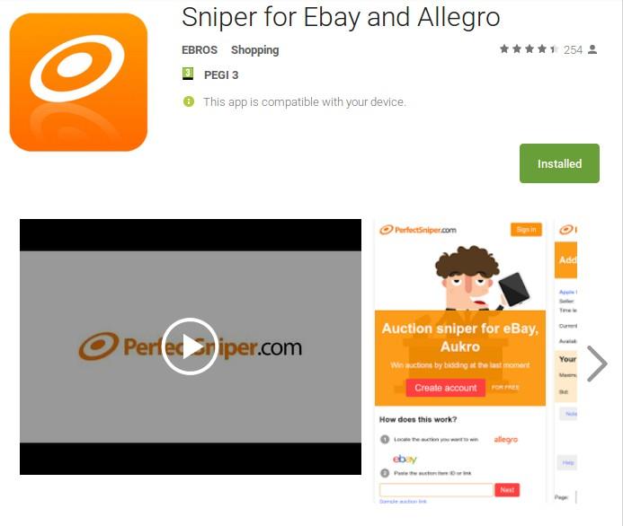 snajper aplikacja mobilna